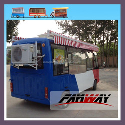 Industrial Mobile Pizza Van Electric Crepe Vending Truck