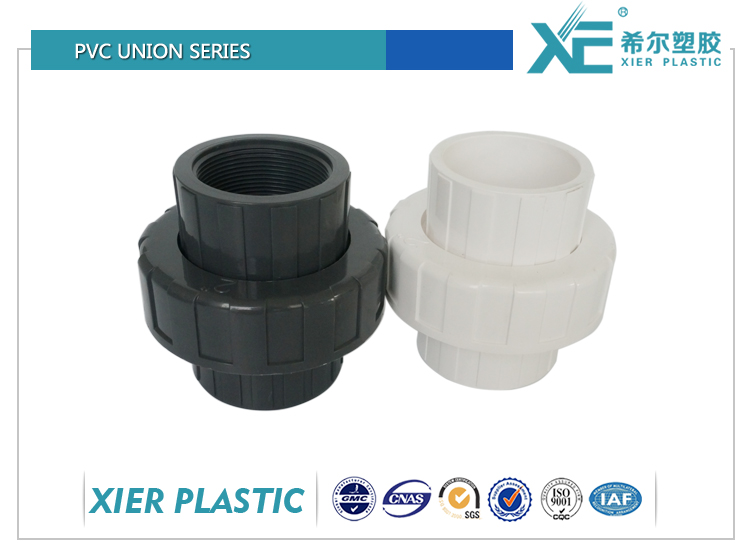 """""""XE"""" plastic 1 1 2 pvc union 1"""" pipe union male threaded fittings"""