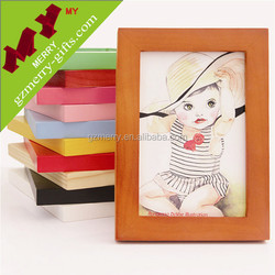 Guangzhou manufacturer lovely classic wood picture frame photo