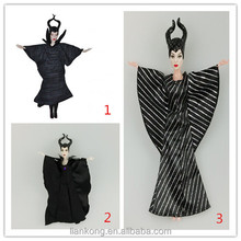 2014 custom made good quality maleficent cosplay costum ,maleficent doll