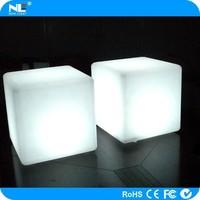 LED bar cube seat and table / LED light cube chairs / illuminated LED cube funiture