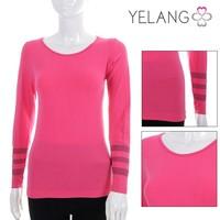 new design types of lady thermal underwear , pink women seamless underwear , sexy female wylie coat