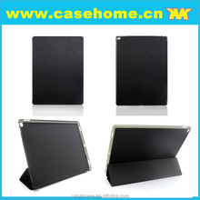 Best quality pu leather smart cover for iPad pro 12.9 , stand leather case for iPad pro 12.9