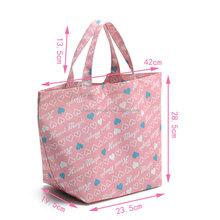 Custom printed trade show navy 600D canvas tote bag