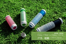 new products 2015 innovative plastic sport water filter bottle