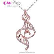 Hip Hop Diamond Pendant Set Design Gold Pendant Necklace With Snake Shaped