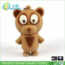 del regalo promocional led mini sonido suave oso de peluche llavero