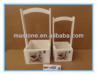 Good quality with low price garden cedar flower pots,can stamp client's company logo