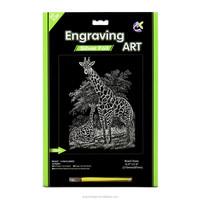 The Silver Giraffe Was Taking A Walk Engraving Art Paper Sets
