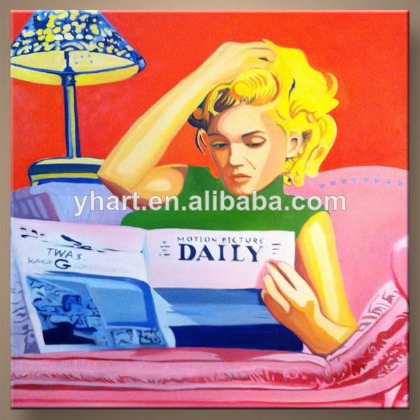 熱い販売法最も新しい芸術の絵画の装飾ハンドメイド性別ホームペイントの画像