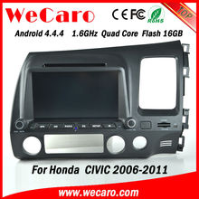 New Arrive Quad Core touch screen car dvd for honda civic 2006 touch screen dashboard GPS navigator TV Radio tuner CD Player