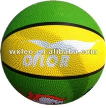 Colorful outdoor games basketballs