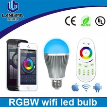 MiLight 85~265V Dimmable 2.4G RGBW LED E27 9W LED Bulb Lamp Wireless Remote Control Color/Brightness/Temperature Adjustable