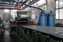 Steel Tile PU Foam Sandwich Panel Machine Line used for Roof Panels