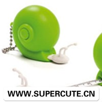 Portable Cute Creative ABS Green color snail design tape measuring