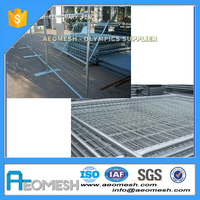 Made In Guangdong 6ft Construction Site Temporary Metal Fence Panels