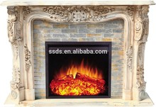 Mármol hermosa materiales a prueba de fuego chimenea