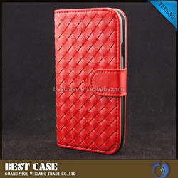 woven style leather phone case for sansung galaxy S6