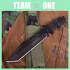 Cutlery Combat Defense Bowie Knife with Nylon Sheath