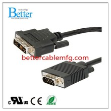 Customized top sell mini dvi to vga adapter cable