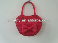 so fashion apple fruit straw handbag