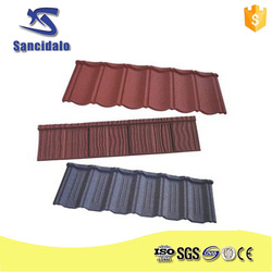 Sancidalo 30 gauge New Recyclable Building Material Colorful Stone Coated Metal Roofing Tile