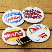 cheap price bulk 1gb 2gb 4gb round mini USB flash drive Customzed OEM Logo Name Credit Card USB Flash Drive