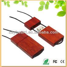 Original handmade wooden usb flash memory disk with line