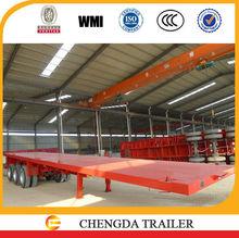 Semi-Trailer Type and 2 axle - 3 axle Size tri axle flatbed trailer
