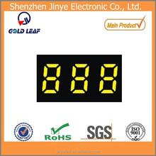 Mini led display 7segment led digital display three 3 triple digit yellow