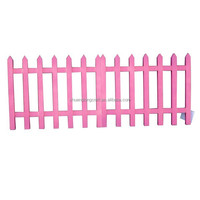 Decorative flower garden fencing, arts and crafts wood fence, garden wooden fence