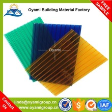 Fast Installation 5.0mm thickness twin wall polycarbonate panel for greenhouse