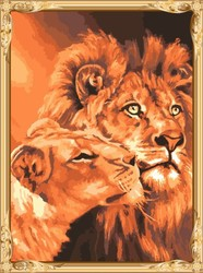GX7279 wall art hot lion photo diy digital painting by numbers for living room decor