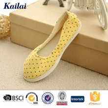 Yellow durable wholesale casual shoes