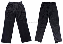 Dark grey professional sport trousers with slanted pockets