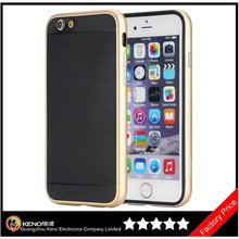 Keno Kani Series Quality Aluminum Metal Case for iPhone 6, for iPhone 6 Soft TPU and Aluminum Bumper Smart Cover Case