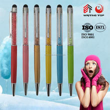 wholesale promotional gift jewelled crystal bling touch pen