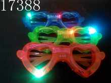 led flashing glasses with heart shape for party supply