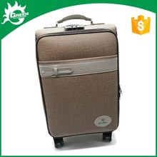 top quality wholesale trendy wheel suitcase luggage and leather trolley travel bag for sky