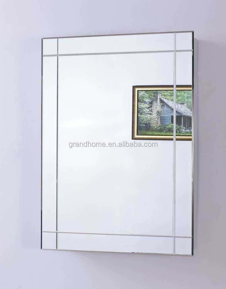 벽 장착 욕실 거울 캐비닛, 430 스테인리스 스틸 방수 욕실 캐비닛 ...