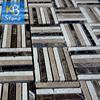 Dark Emperador style M022 tile round mosaic medallion floor patterns made in china