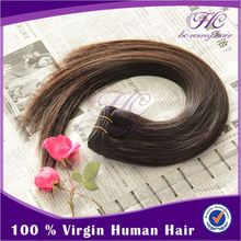 Factory Price 5A 100% Natural Colour clip in remy hair extensions