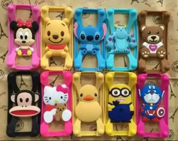 universal cartoon silicone bumper ring case