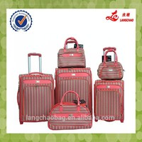 Beautiful PU 4 wheels luggage, hot selling luggage trolley case