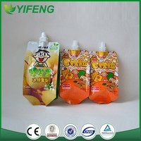 Special new products fruit printed stand up pouch with spout