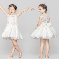Best Selling Elegant Western Party Wear Dresses Kids Christmas Party Dresses