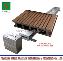 2015 hot sell anti slip PVC/PE wood plastic crack resistant garden WPC decking flooring profile extrusion mould/die tool