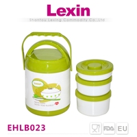 thermal stainless steel round vacuum lunch box container for kids