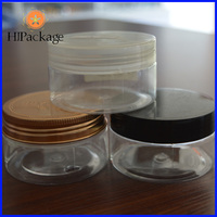 100g new design amber plastic packaging/make up jar from china