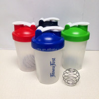 BPA Free Sport Shaker Bottles with Stainless Steel Shaker Ball